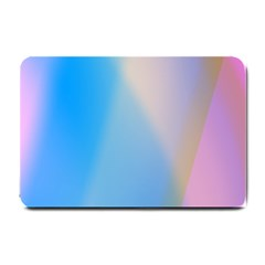 Twist Blue Pink Mauve Background Small Doormat