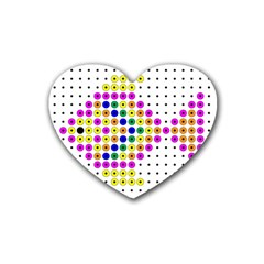 Colored Fish Heart Coaster (4 pack)