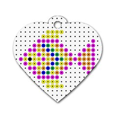 Colored Fish Dog Tag Heart (Two Sides)