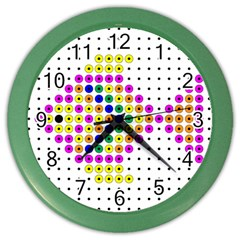 Colored Fish Color Wall Clocks