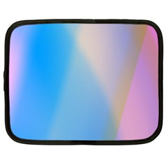 Twist Blue Pink Mauve Background Netbook Case (XXL)