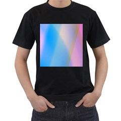 Twist Blue Pink Mauve Background Men s T-Shirt (Black)