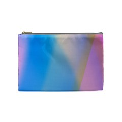 Twist Blue Pink Mauve Background Cosmetic Bag (Medium)