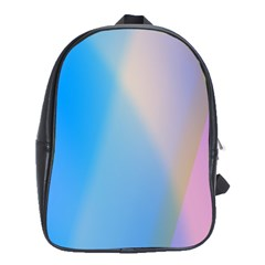 Twist Blue Pink Mauve Background School Bags(Large)