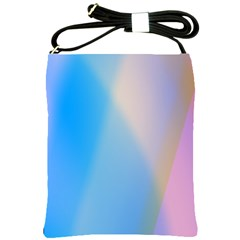Twist Blue Pink Mauve Background Shoulder Sling Bags