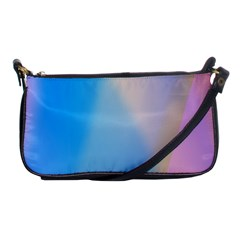 Twist Blue Pink Mauve Background Shoulder Clutch Bags