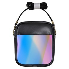 Twist Blue Pink Mauve Background Girls Sling Bags