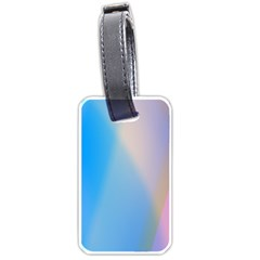 Twist Blue Pink Mauve Background Luggage Tags (Two Sides)