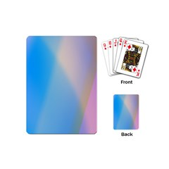 Twist Blue Pink Mauve Background Playing Cards (Mini)