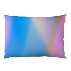 Twist Blue Pink Mauve Background Pillow Case (Two Sides)