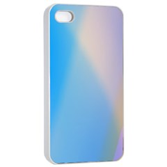 Twist Blue Pink Mauve Background Apple iPhone 4/4s Seamless Case (White)
