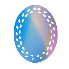 Twist Blue Pink Mauve Background Oval Filigree Ornament (2-Side)