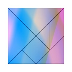 Twist Blue Pink Mauve Background Acrylic Tangram Puzzle (6  x 6 )