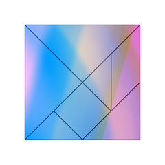 Twist Blue Pink Mauve Background Acrylic Tangram Puzzle (4  x 4 )