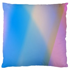 Twist Blue Pink Mauve Background Large Cushion Case (Two Sides)