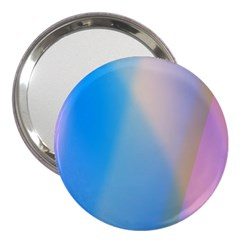 Twist Blue Pink Mauve Background 3  Handbag Mirrors