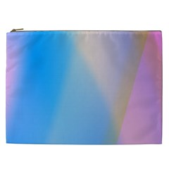Twist Blue Pink Mauve Background Cosmetic Bag (XXL)