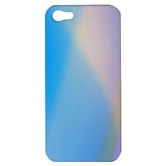 Twist Blue Pink Mauve Background Apple iPhone 5 Hardshell Case