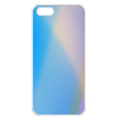 Twist Blue Pink Mauve Background Apple iPhone 5 Seamless Case (White)