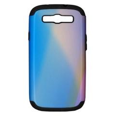 Twist Blue Pink Mauve Background Samsung Galaxy S III Hardshell Case (PC+Silicone)