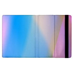 Twist Blue Pink Mauve Background Apple iPad 3/4 Flip Case