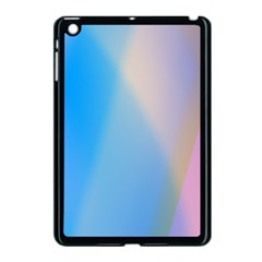 Twist Blue Pink Mauve Background Apple iPad Mini Case (Black)