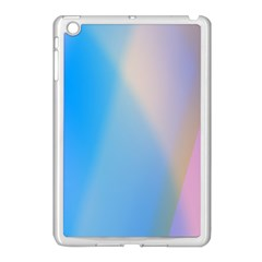 Twist Blue Pink Mauve Background Apple iPad Mini Case (White)