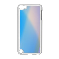 Twist Blue Pink Mauve Background Apple iPod Touch 5 Case (White)