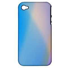 Twist Blue Pink Mauve Background Apple iPhone 4/4S Hardshell Case (PC+Silicone)