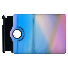 Twist Blue Pink Mauve Background Apple iPad 2 Flip 360 Case