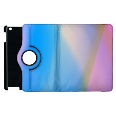 Twist Blue Pink Mauve Background Apple iPad 3/4 Flip 360 Case