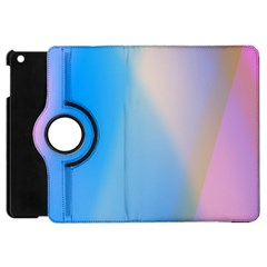 Twist Blue Pink Mauve Background Apple iPad Mini Flip 360 Case