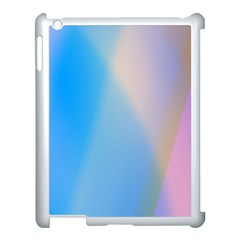 Twist Blue Pink Mauve Background Apple iPad 3/4 Case (White)