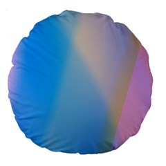 Twist Blue Pink Mauve Background Large 18  Premium Round Cushions