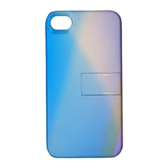 Twist Blue Pink Mauve Background Apple iPhone 4/4S Hardshell Case with Stand
