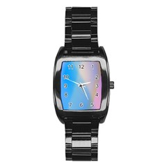 Twist Blue Pink Mauve Background Stainless Steel Barrel Watch