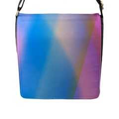 Twist Blue Pink Mauve Background Flap Messenger Bag (L)