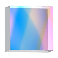 Twist Blue Pink Mauve Background 5  x 5  Acrylic Photo Blocks