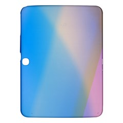 Twist Blue Pink Mauve Background Samsung Galaxy Tab 3 (10.1 ) P5200 Hardshell Case