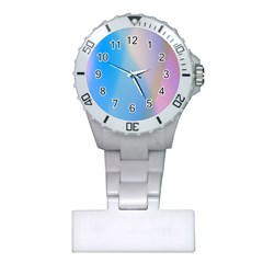 Twist Blue Pink Mauve Background Plastic Nurses Watch