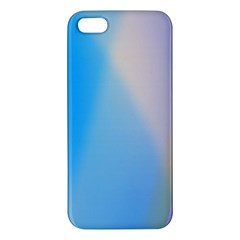 Twist Blue Pink Mauve Background iPhone 5S/ SE Premium Hardshell Case