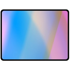 Twist Blue Pink Mauve Background Double Sided Fleece Blanket (Large)