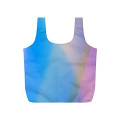 Twist Blue Pink Mauve Background Full Print Recycle Bags (S)