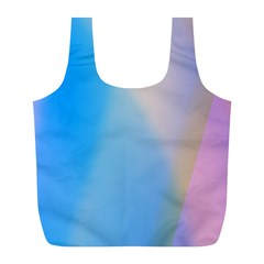 Twist Blue Pink Mauve Background Full Print Recycle Bags (L)