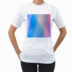 Twist Blue Pink Mauve Background Women s T-Shirt (White)