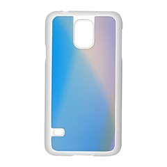 Twist Blue Pink Mauve Background Samsung Galaxy S5 Case (White)