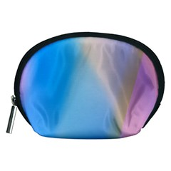 Twist Blue Pink Mauve Background Accessory Pouches (Medium)