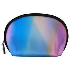 Twist Blue Pink Mauve Background Accessory Pouches (Large)