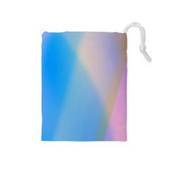 Twist Blue Pink Mauve Background Drawstring Pouches (Medium)