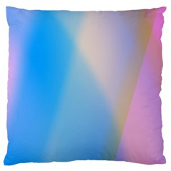 Twist Blue Pink Mauve Background Large Flano Cushion Case (One Side)